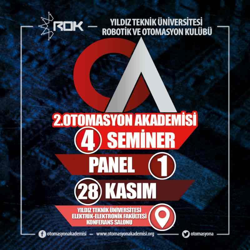 2. Otomasyon Akademisi 28 Kasım'da YTÜ'de !