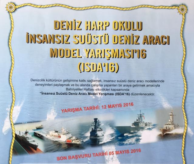Deniz Harp Okulu RC Kontrollü Model Tekne Yarışması