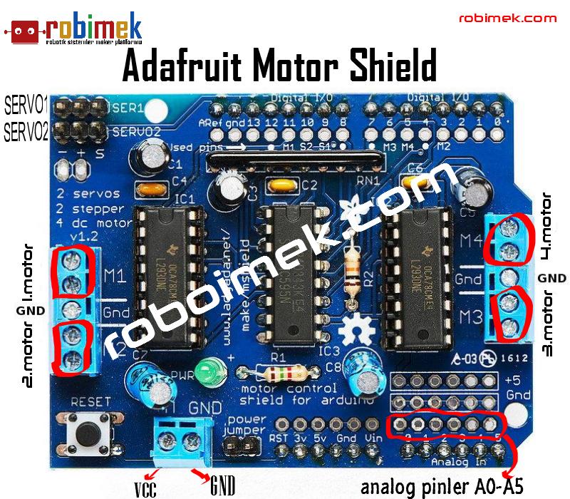 adafruit motor shield pin yap s ve yaz l m fonksiyonlar On adafruit motor shield pins