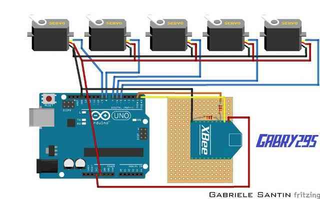 Arduino İle kablosuz robotik el kontrol projesi