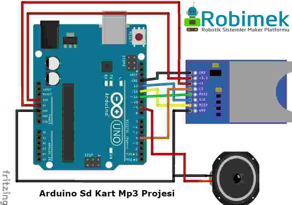 Arduino Ile Sd Karttan Mp3 Ses Dosyasi Calma